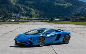 Picture Lamborghini, Blue, Aventador, P740-4