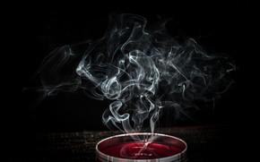 Picture smoke, candle, the incense