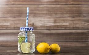 Picture lemon, citrus, mint, Lemonade