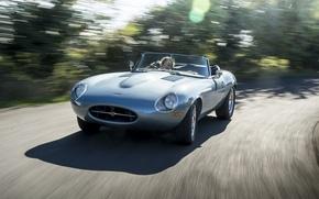 Picture road, machine, speed, Jaguar, Eagle, sportcar, Spyder, speed, british, Road, E-TYPE