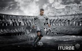 Picture wallpaper, sport, football, player, AS Roma, Juan Manuel Iturbe