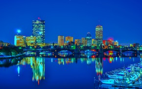 Picture the city, lights, the building, USA, Boston, Boston