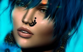 Picture girl, face, style, hair