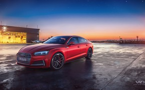 Wallpaper Vedat Afuzi Design, the evening, Sportback, Audi S5, 2018, sunset