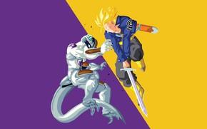 Picture DBS, anime, manga, Dragon Ball, Trunks, Dragon Ball Super, japonese, Frreza