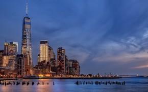 Wallpaper Battery Park City, USA, architecture, Hudson River, NYC, New York City, New York, Manhattan