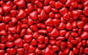Picture candy, hearts, red, heart, background, romantic