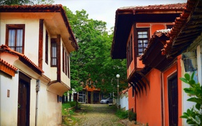 Picture Track, Village, Old house, Old house, Path