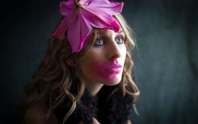 Picture flower, girl, portrait