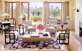 Picture interior, terrace, living room, Manhattan Penthouse and Lush Garden