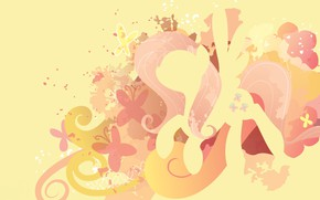 Picture butterfly, yellow, magic, mane, tail, butterflies, My little pony, MLP, Fluttershy, pony, Pony, Fluttershy, My ...