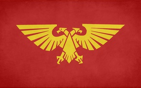 Picture red, gold, eagle, fon, desktop wallpapers, Imperium of Mankind, Warhammer 40 000, banner