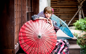 Picture makeup, umbrellas, East, Chang