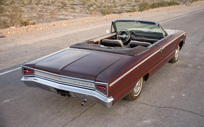 Picture Dodge, 1965, Convertible, Rear view, Custom 880