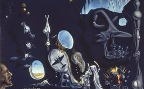 Wallpaper surrealism, picture, Salvador Dali, Salvador Dali, Atomic Melancholy