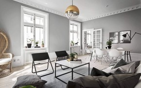 Picture interior, living room, dining room, Apartment in Stockholm