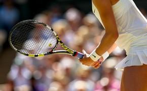 Picture tennis player, racket, Eugenie Bouchard