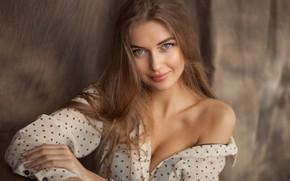 Wallpaper Anton Komar, eyes, girl, Anna Zapolskaya, look
