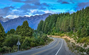 Picture road, forest, mountains, nature, Argentina