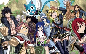 Picture girl, game, anime, fairy, Lucy, dragon, asian, manga, japanese, Fairy Tail, Natsu, oriental, asiatic, powerful, …