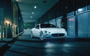 Picture Maserati, Front, Night, Street, Supercar, Gran Turismo