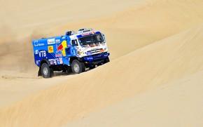 Picture Sand, Sport, Desert, Speed, Truck, Race, Master, Russia, 500, Kamaz, Rally, Dakar, KAMAZ-master, Dakar, Rally, …