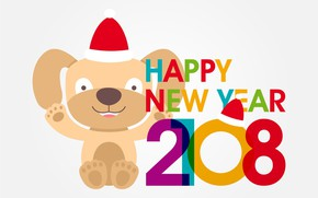 Picture dog, New year, 2018