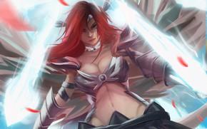 Wallpaper Sexy, Warrior, Magic, Knight, Redhead, Fairy Tail, Ezra Scarlet, Babe, Goddess, Hiro, Mashima, Elza, Eruza ...