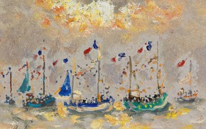 Picture landscape, picture, sail, Andre Hamburg, Andre Hambourg, Boats in Holiday