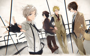 Picture anime, art, guys, Bungou Stray Dogs