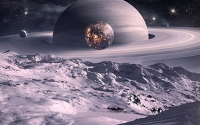 Wallpaper planet, Saturn, cool
