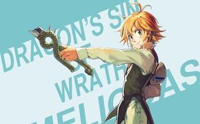 Picture anime, art, guy, Nanatsu no Taizai, The seven deadly sins, Melides, broken sword