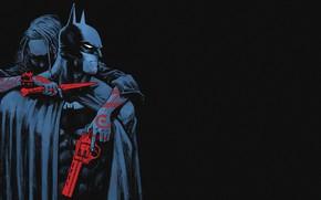 Picture Red, Black, Knife, Batman, Costume, Weapons, Hero, Mask, Comic, Red, Tattoo, Cloak, Superhero, Tattoo, Gun, ...