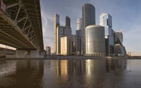 Picture Bridge, River, Moscow, Building, Russia, Russia, Bridge, Moscow, Moscow-City, River, Buildings, Moscow City