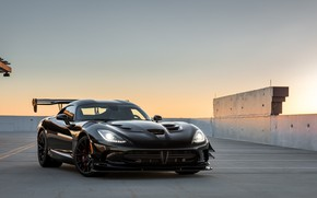 Wallpaper Viper, ACR, Black, Dodge