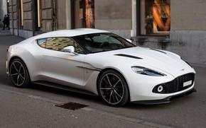 Picture Aston Martin, White, Street, Zagato, Vanquish