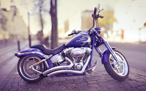 Picture the city, style, motorcycle, bike, Harley Davidson