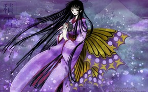 Picture butterfly, Girl, anime, art, xxxHolic