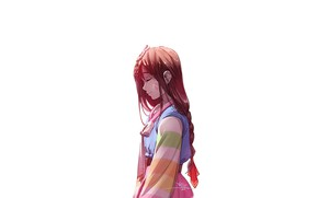 Wallpaper girl, profile, cutie, face