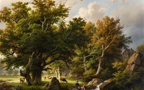 Picture Picture, Landscape, Painting, Barend Cornelis