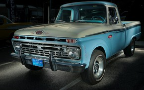 Picture Ford, Pickup, Custom, Cab, F-100
