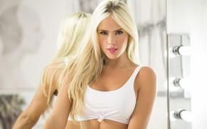 Picture look, face, model, hair, blonde, beauty, Liliana Henao
