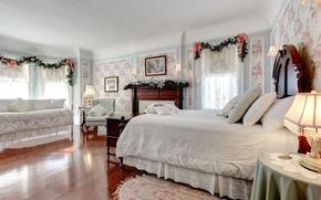 Picture design, bed, bedroom, decor