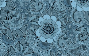 Picture flowers, retro, background, pattern, vector, texture