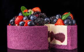 Picture berries, strawberry, cake, BlackBerry, blueberries