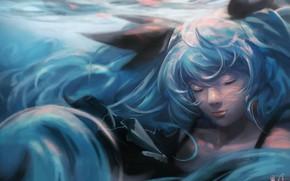 Picture under water, Vocaloid, Hatsune Miku, Fez