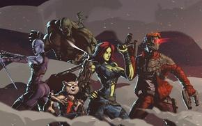 Wallpaper cinema, gun, weapon, movie, hero, film, mask, yuusha, Guardian of the Galaxy Vol. 2, Gaurdians ...