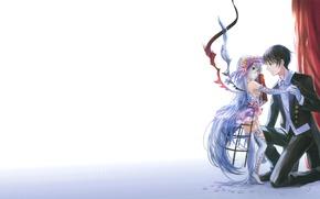 Picture anime, art, girl, guy, succubus, fuji choko