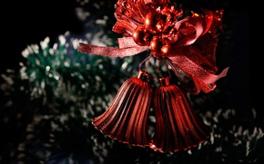 Picture holiday, toy, new year, Christmas, tree, bells