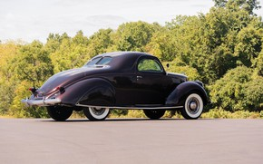 Picture Coupe, Vintage, 1937, Lincoln Zephyr
